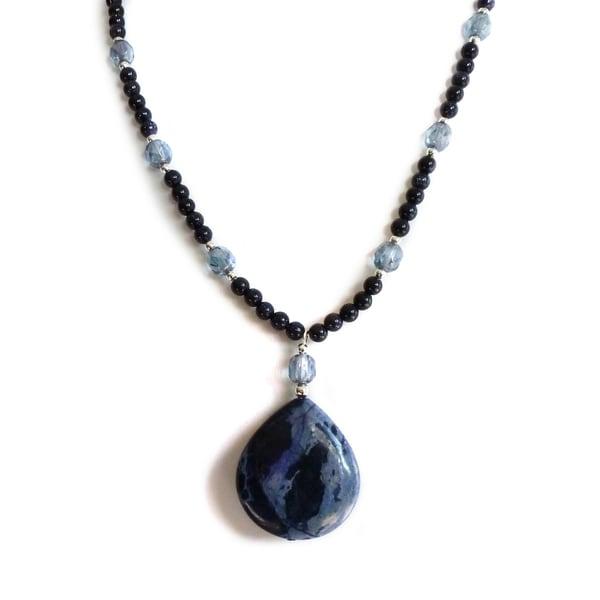 Every Mornng Design Blue Jasper Drop Necklace