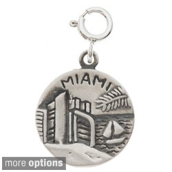 Sterling Silver City 2-sided Charm