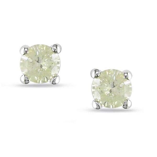 Miadora Sterling Silver 1/4ct TDW Diamond Stud Earrings (J-K, I2-I3)