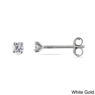 Miadora 14k White or Yellow Gold 1/10ct TDW Diamond Stud Earrings (G-H, VS1-VS2)