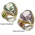 Michael Valitutti Two-tone Pink or Green Amethyst Ring