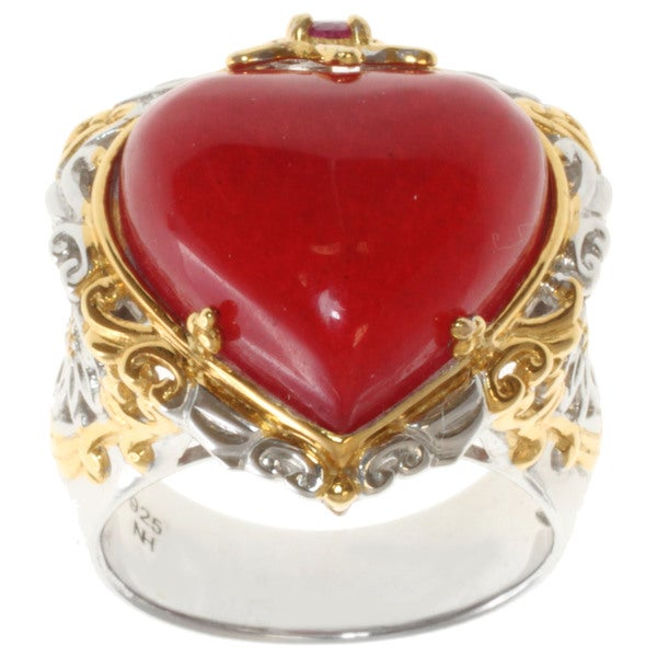 Michael Valitutti/ Dr. Robi Two-tone Red Jade and Ruby Ring