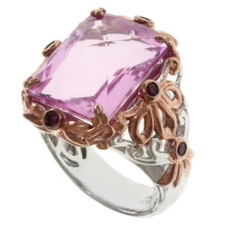 Michael Valitutti/ Dr. Robi Two-tone Pink Quartz and Pink Sapphire Ring