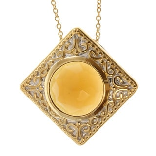 Michael Valitutti Two-tone Whiskey Quartz Necklace