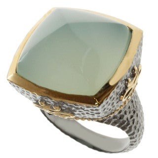 Michael Valitutti Two-tone Pyramid Chalcedony Ring