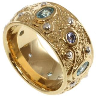 Michael Valitutti Zaffiro Two-tone Blue Zircon and Tanzanite Ring