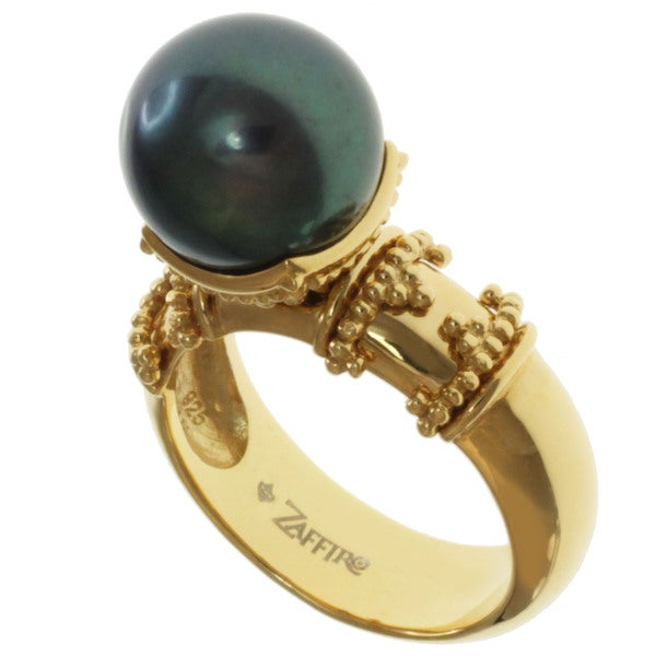Michael Valitutti Peacock Freshwater Pearl Ring (11-12 mm)