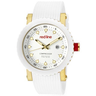 Red Line Men's 'Compressor' White Textured Silicone Watch