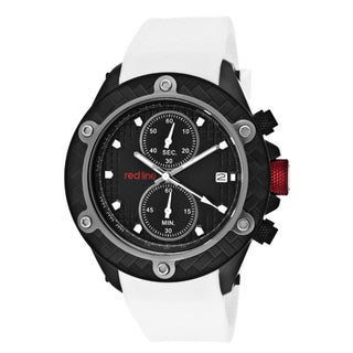 Red Line Men's 'Carbon Brake' White Textured Silicone Watch