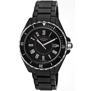 Rotary Men's Black Ceramic Watch