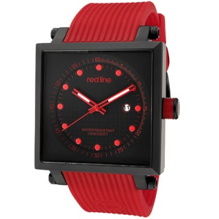 Red Line Men's 'Compressor 2' Red Textured Silicone Watch