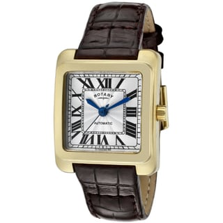 Rotary Women's Dark Brown Leather Watch