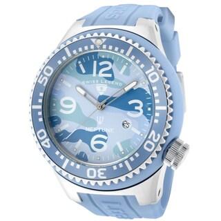 Swiss Legend Men's 'Neptune' Light Blue Silicone Watch