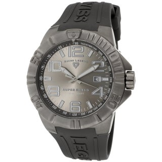 Swiss Legend Men's 'Super Shield' Grey Silicone Watch
