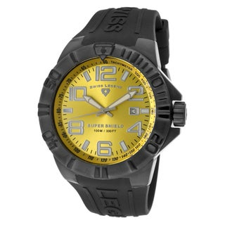 Swiss Legend Men's 'Super Shield' Black Silicone Watch