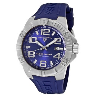 Swiss Legend Men's 'Super Shield' Blue Silicone Watch
