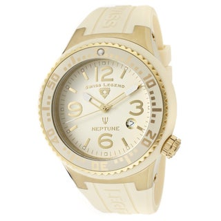 Swiss Legend Men's 'Neptune' Beige Silicone Watch