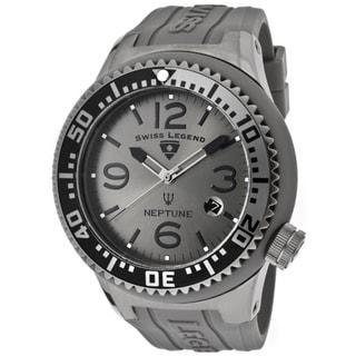 Swiss Legend Men's 'Neptune' Grey Silicone Watch