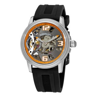 Stuhrling Original Men's 'Brumalia Prot�g�' Black Rubber Watch