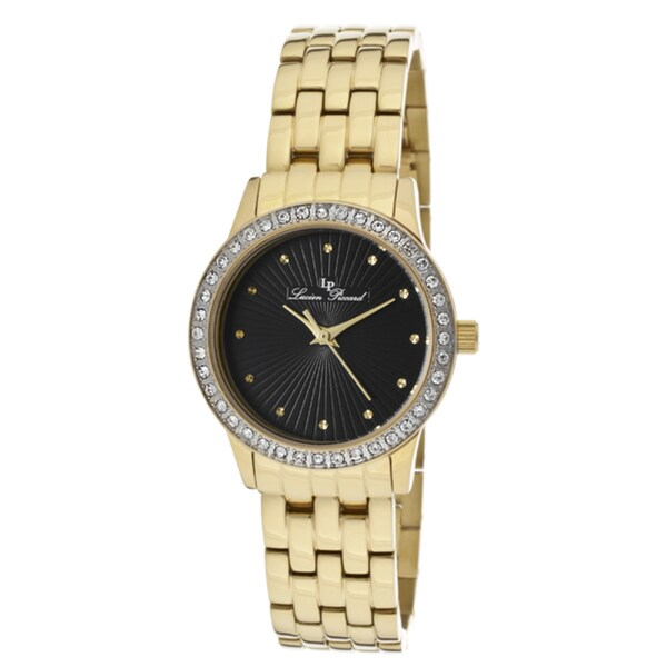 Lucien Piccard Women's 'Monte Velan' Goldtone IP Stainless Steel Watch