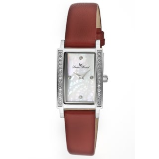 Lucien Piccard Women's 'Monte Baldo' Red Genuine Leather Watch