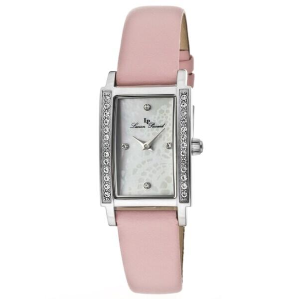 Lucien Piccard Women's 'Monte Baldo' Light Pink Genuine Leather Watch