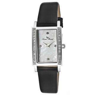 Lucien Piccard Women's 'Monte Baldo' Black Genuine Leather Watch