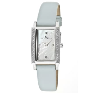 Lucien Piccard Women's 'Monte Baldo' Baby Blue Genuine Leather Watch