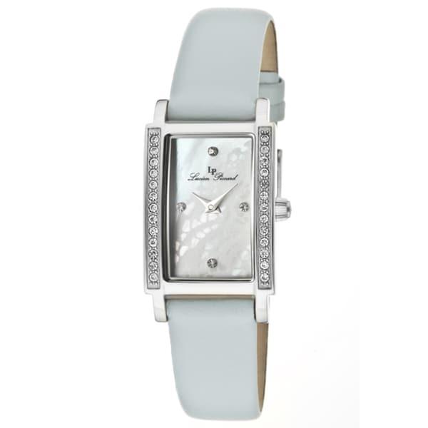 Lucien Piccard Women's 'Monte Baldo' Baby Blue Genuine Leather Watch
