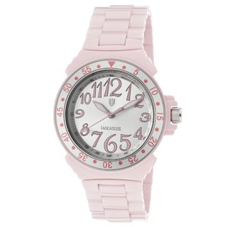 Lancaster Italy Women's Ceramik Pink High-tech Ceramic Watch