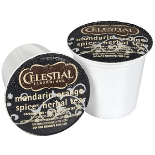Celestial Seasonings Mandarin Orange Spice Herbal Tea K-Cups for Keurig Brewers (Case of 96)