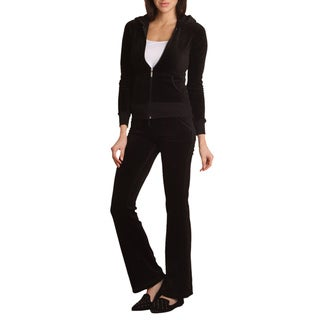 4Now Fashions Plus Size 2-Piece Velour Track Suit