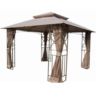 10-foot x 10-foot Coffee Applique Gazebo