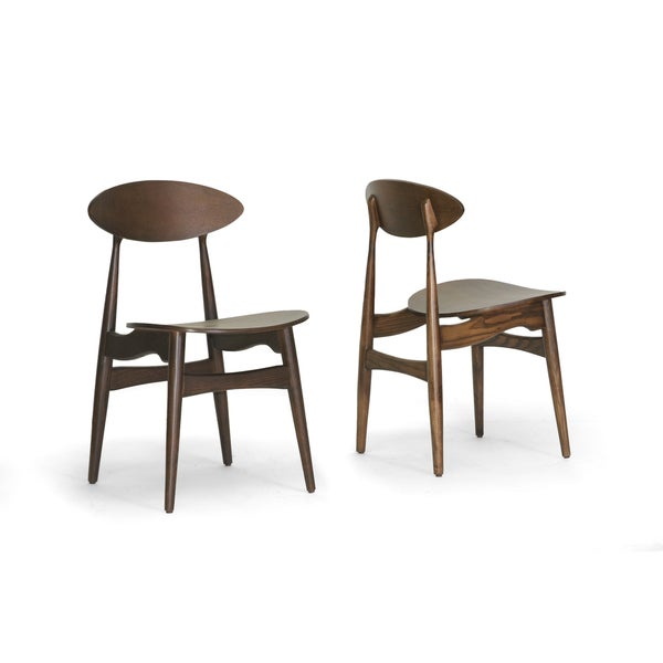 Ophion Brown Wood Modern Dining Chair (Set of 2 ...
