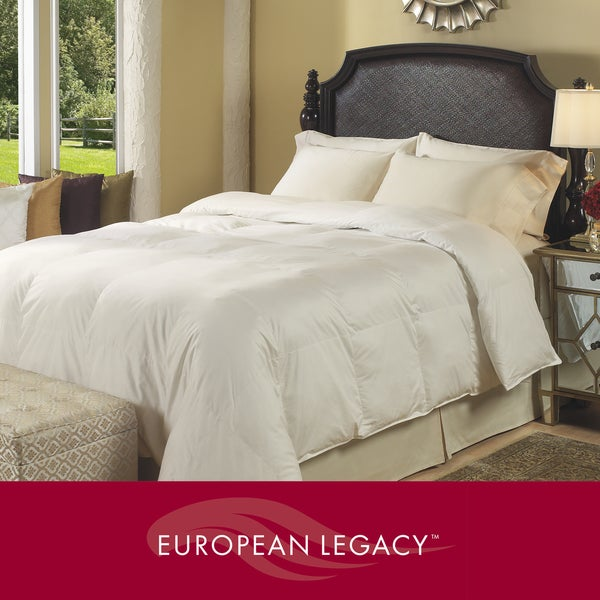 European Legacy Oversized 400 Thread Count Elegant White Down Comforter