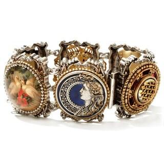 Sweet Romance Vintage Buttons Link Bracelet