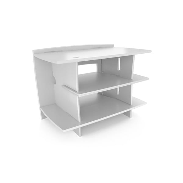 Legare White 3-shelf Media Stand