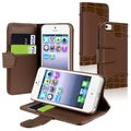 BasAcc Brown Leather Case with Card Holder for Apple iPhone 5
