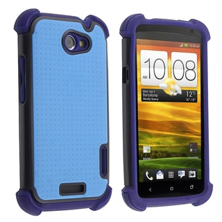 BasAcc Blue/ Black Hybrid Armor Case for HTC One X