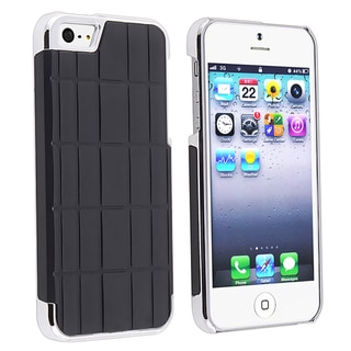 BasAcc Black Metal Vinyl Snap-on Case for Apple iPhone 5