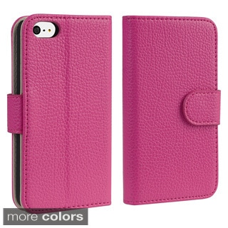BasAcc Leather Wallet Case with Card Holder for Apple iPhone 5