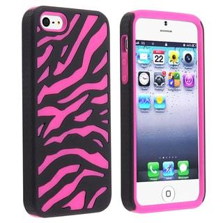 BasAcc Hot Pink/ Black Zebra Hybrid Case for Apple iPhone 5