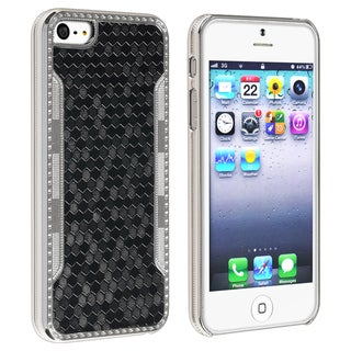 BasAcc Black Snake Leather Case for Apple iPhone 5