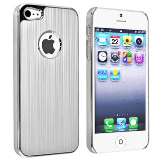 BasAcc Silver Brushed Chrome Aluminum Rear Case for Apple iPhone 5