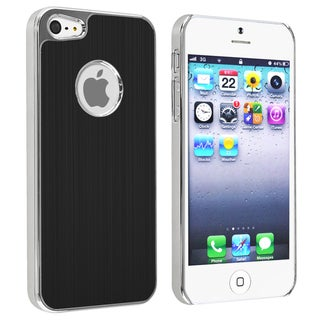 BasAcc Black Brushed Chrome Aluminum Rear Case for Apple iPhone 5
