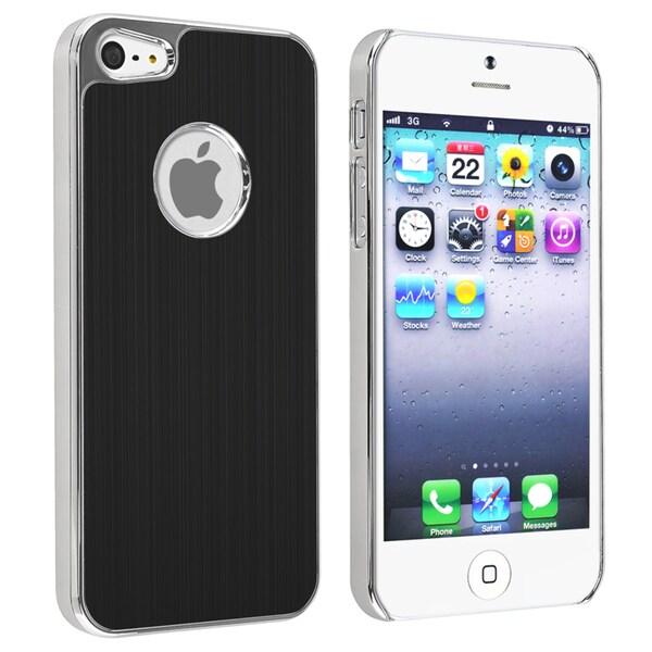 BasAcc Black Brushed Chrome Aluminum Rear Case for Apple iPhone 5