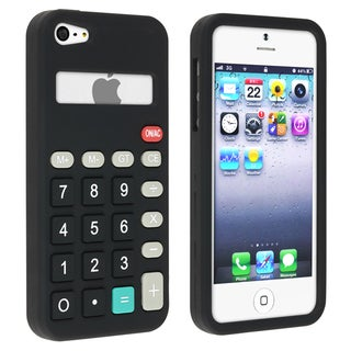 BasAcc Black 3D Calculator Pattern Silicone Case for Apple iPhone 5