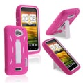 BasAcc White Hard/ Hot Pink Skin Hybrid Case with Stand for HTC One X