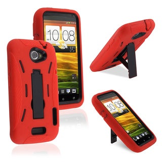 BasAcc Black/ Red Hybrid Case for HTC Inspire 4G / Desire