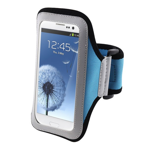 BasAcc Light Blue Armband for Samsung Galaxy S III/ S3